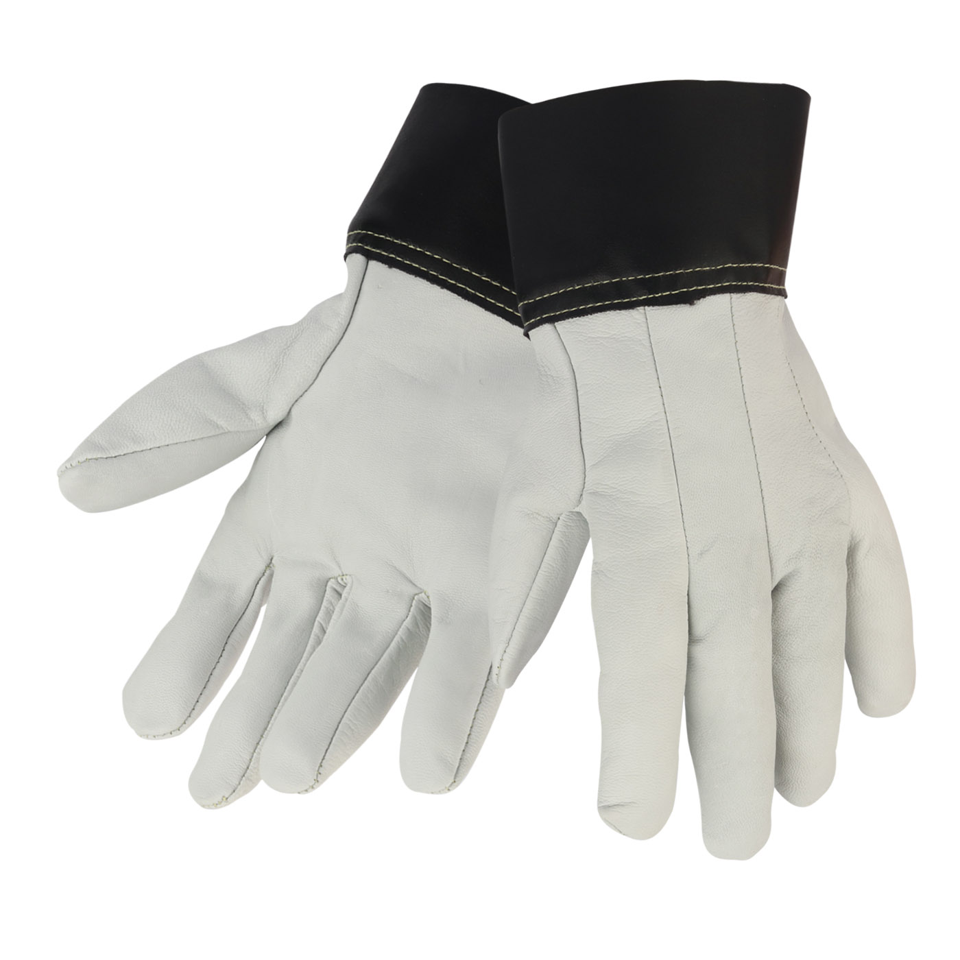 Pearl Color Unlined Goat Grain Full Leather Gloves