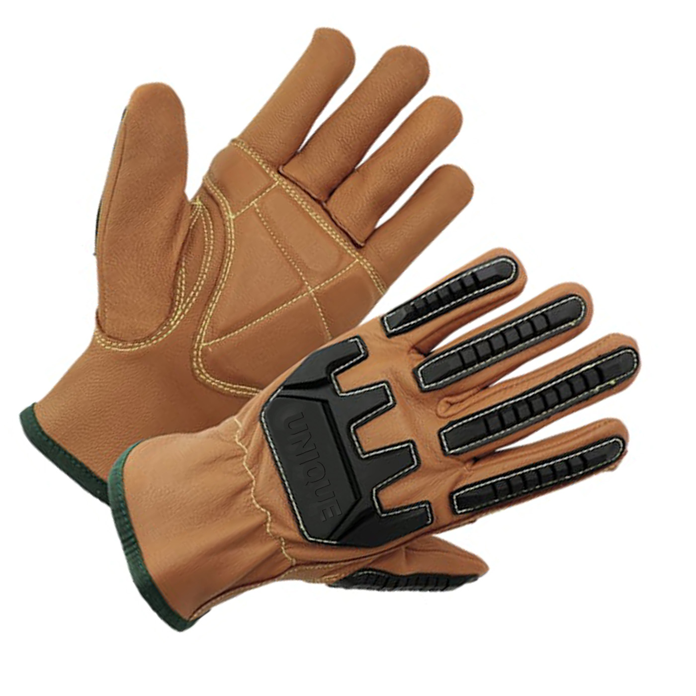 Brown oil repellent goat leather driver glove