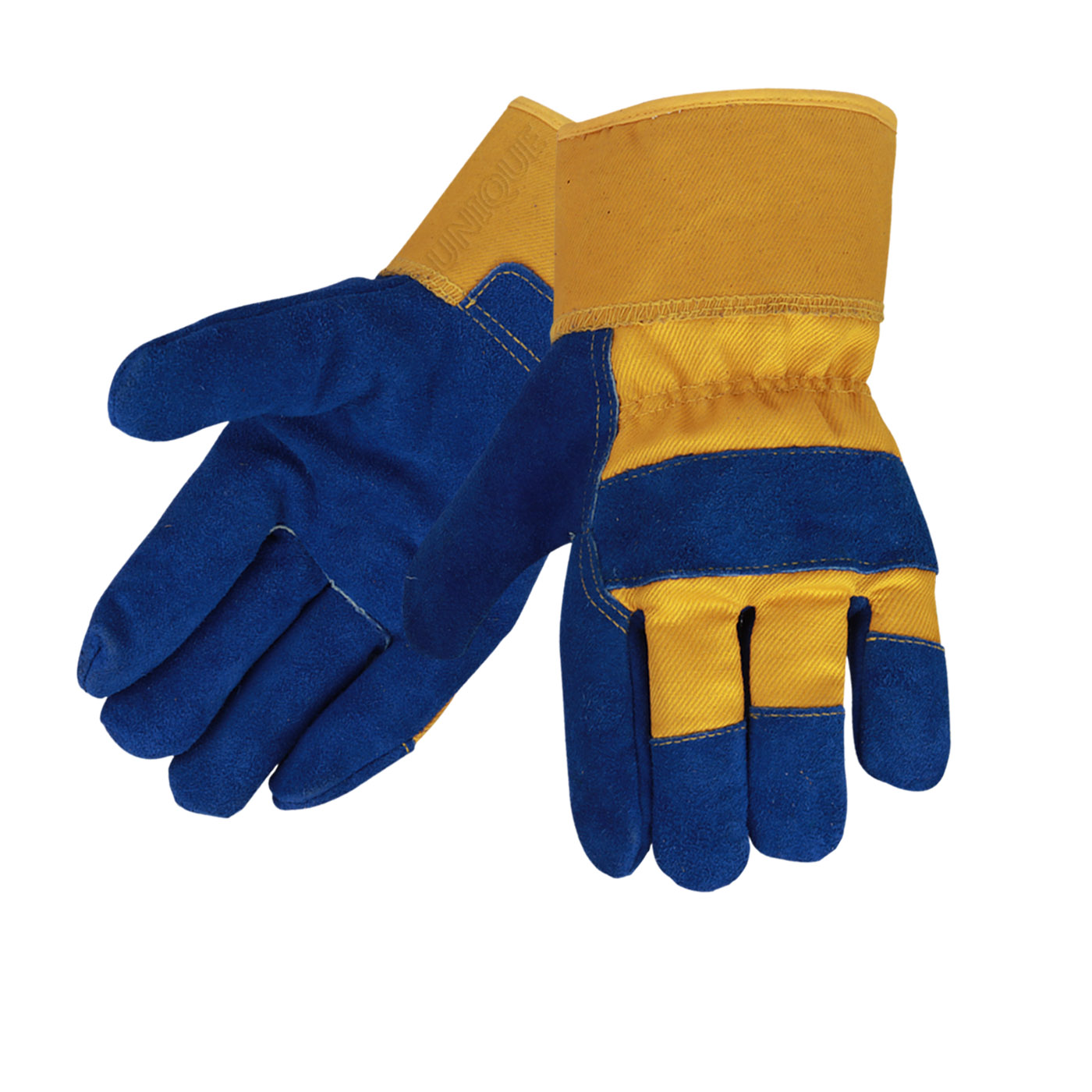 Leather Work Gloves Blue