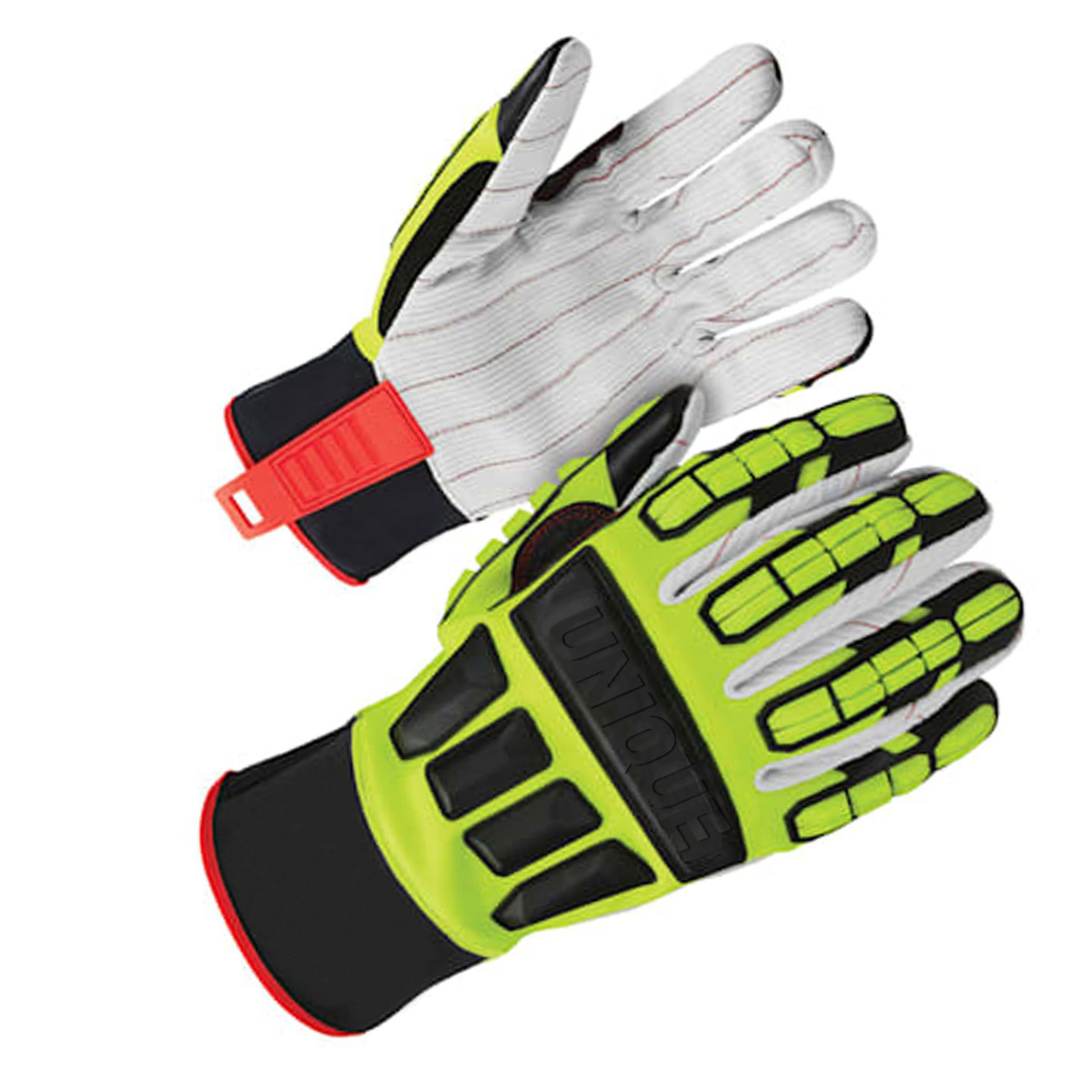 Cotton corded palm with impact protection