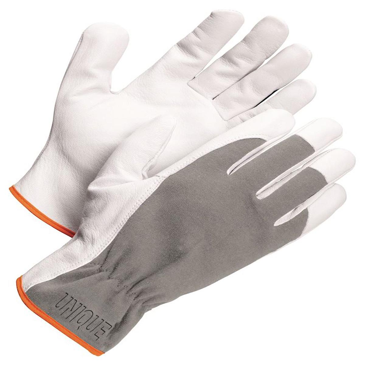 Goat Skin Leather Glove Glove Grey Fabric