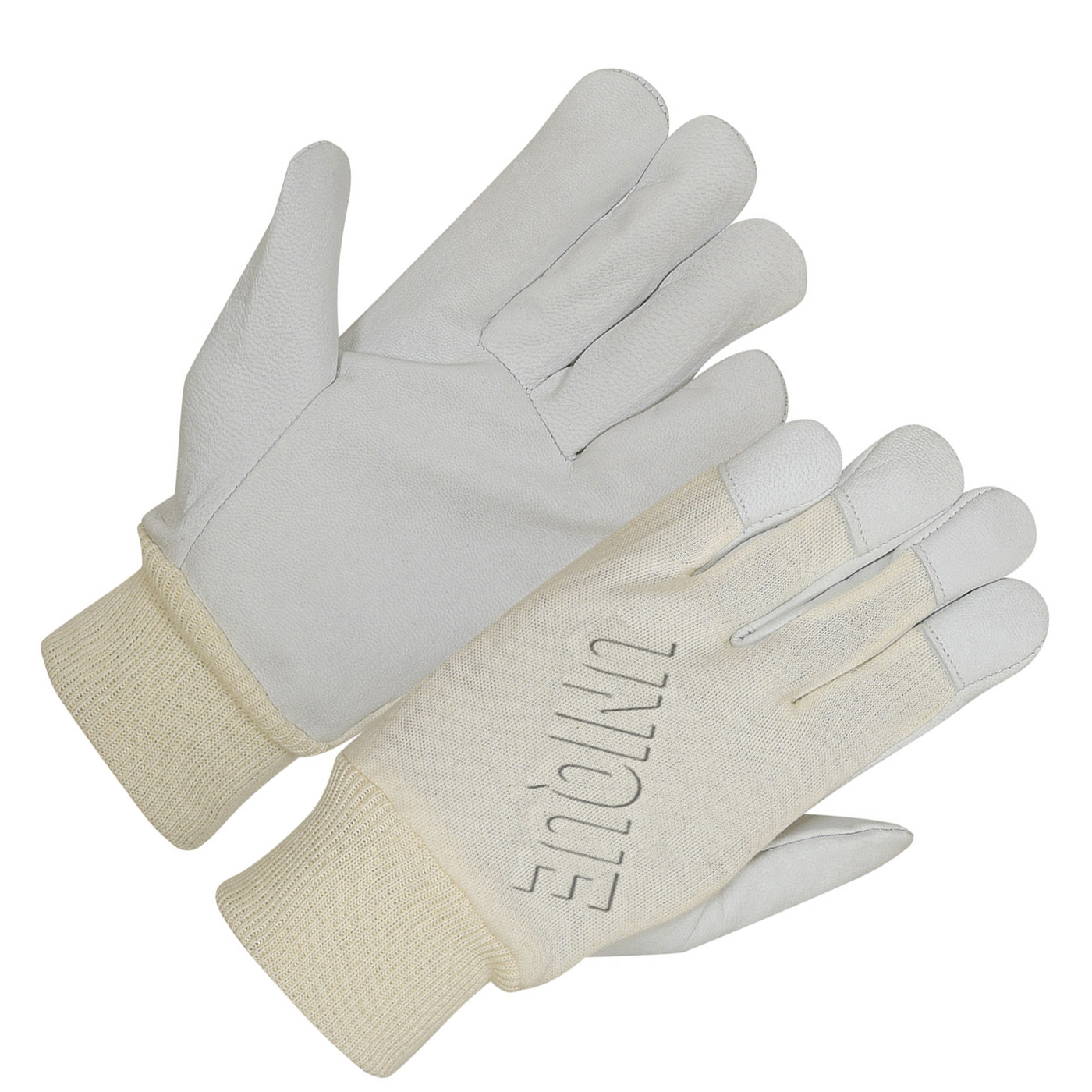 Goat Skin Leather Glove With Interlock
