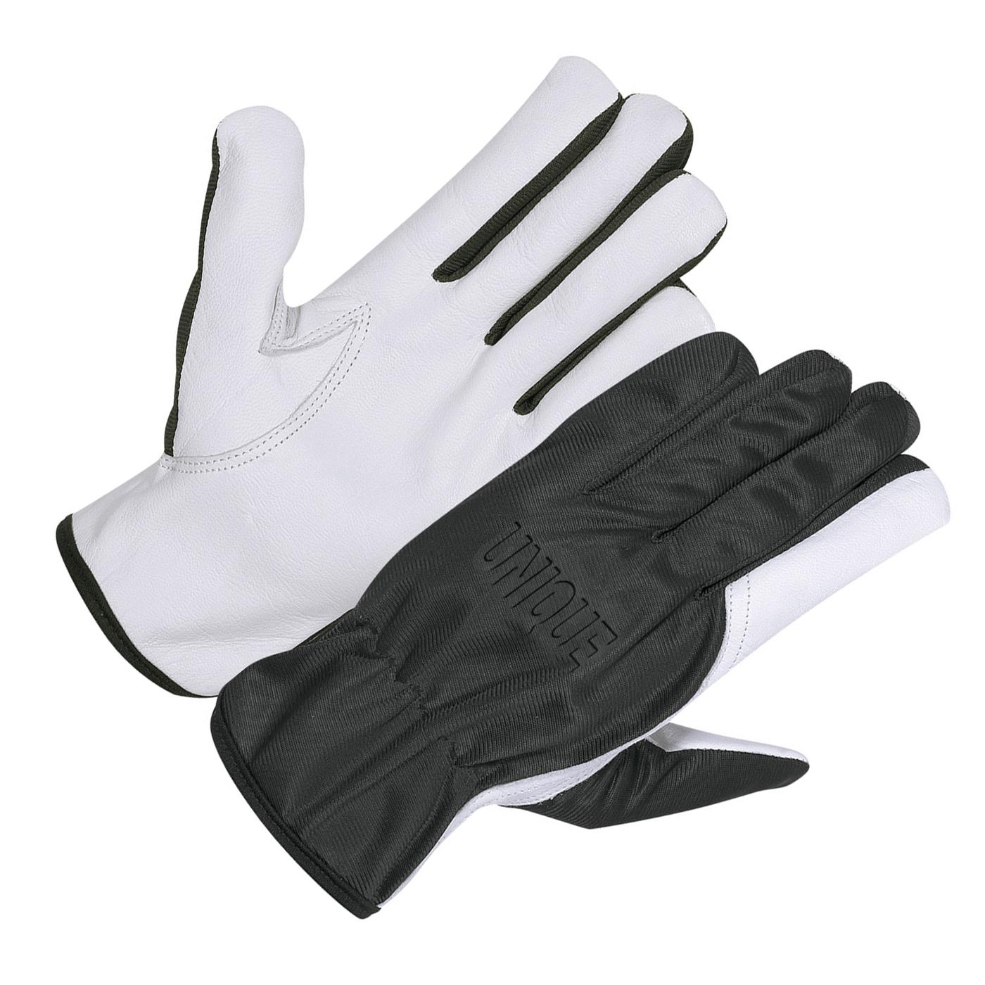 Goat Skin Work Glove With Black Nylon Cloth