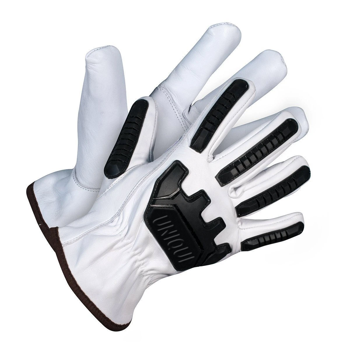 Natural Goat leather driver with palm. TPR