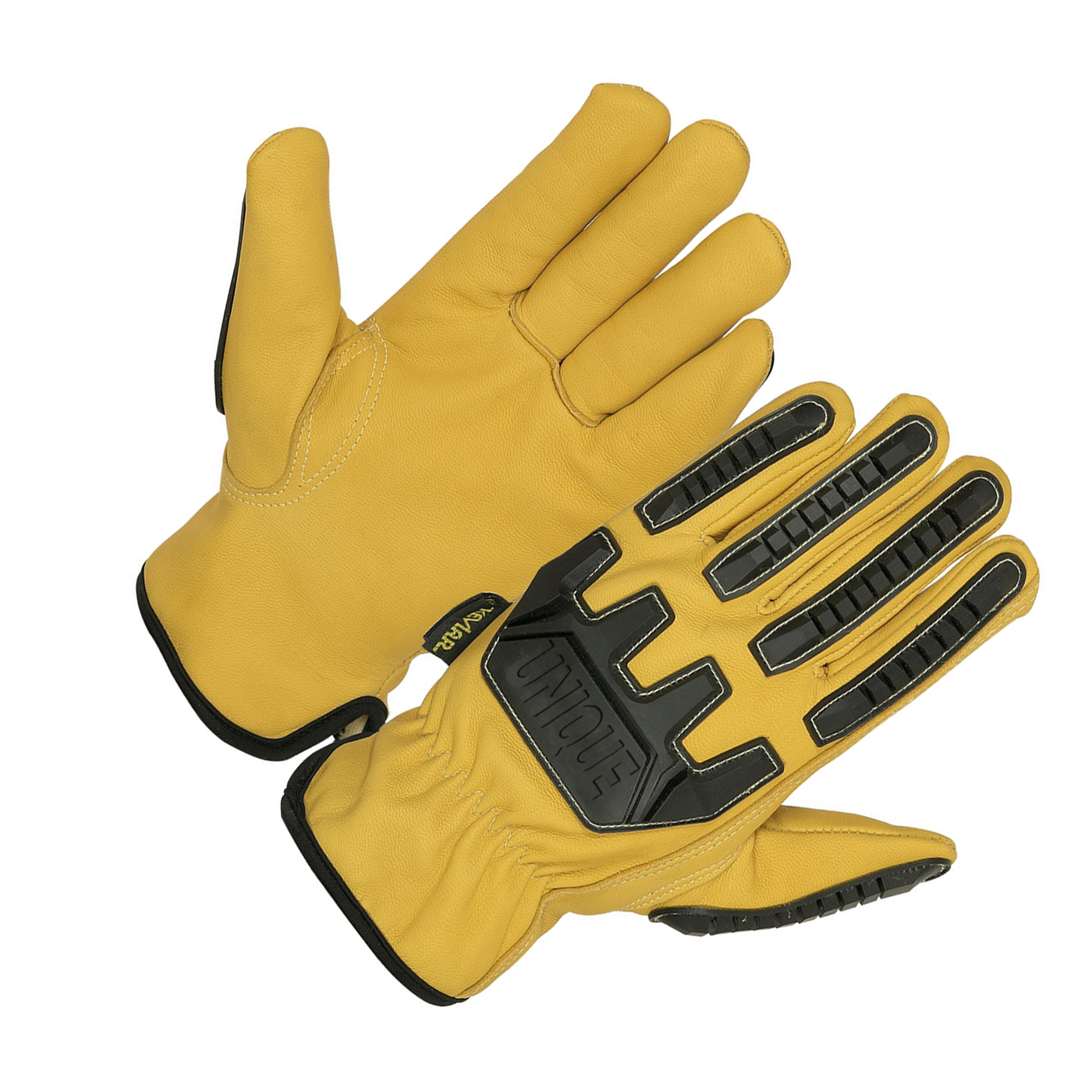 High quality Yellow dyed water proof Goat leather driver. TPR