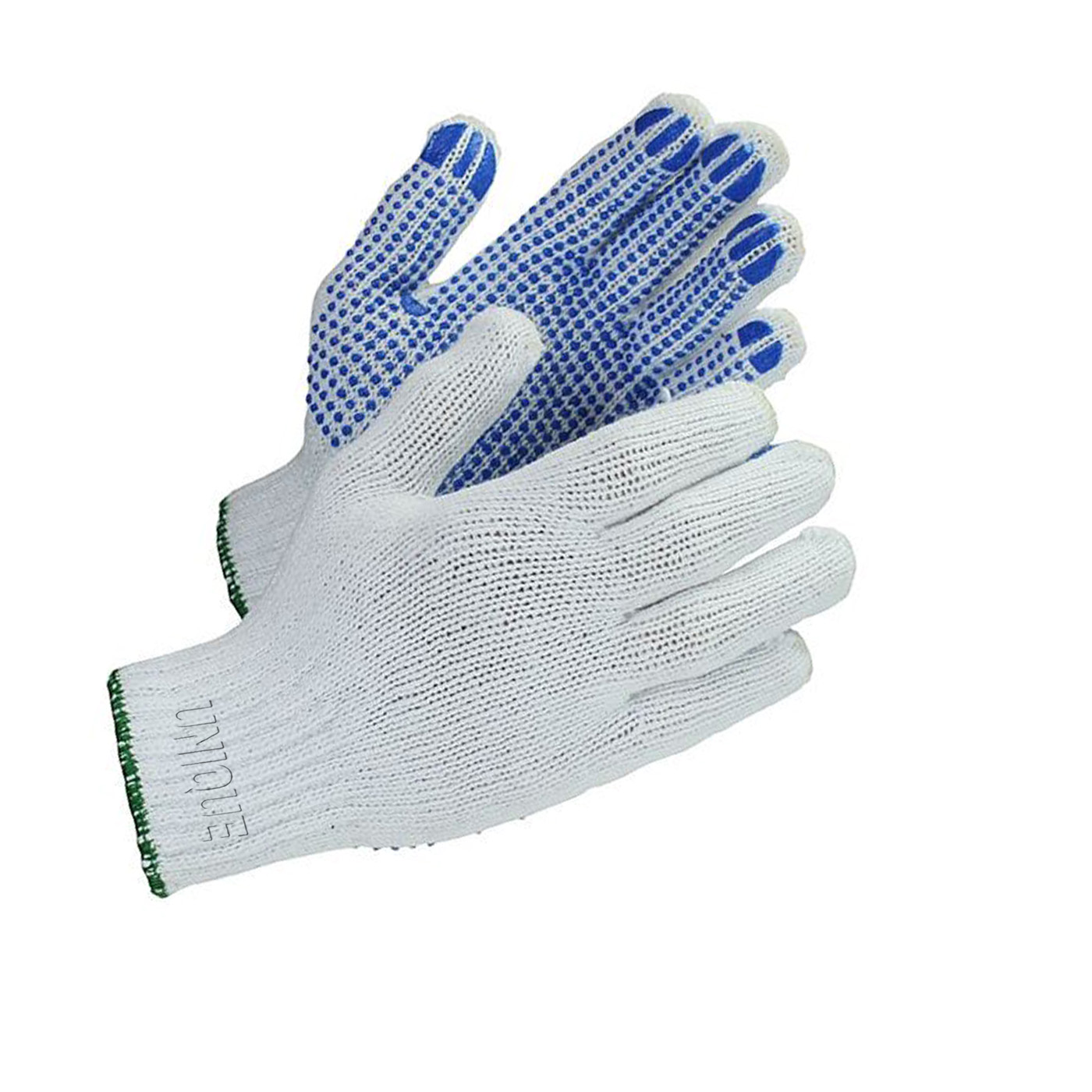 KNIT PALM AND FINGERS COVERED WITH PVC