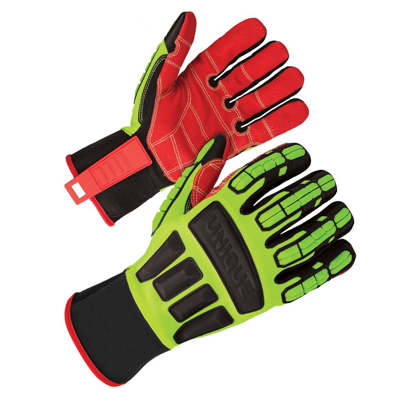 Heavy duty TPR Impact gloves with PVC