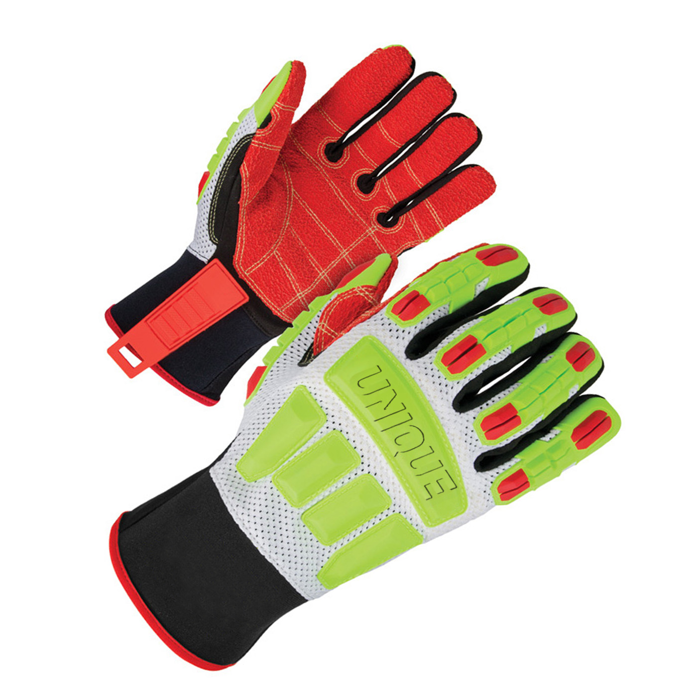 TPR Impact glove with waterproof PVC coated