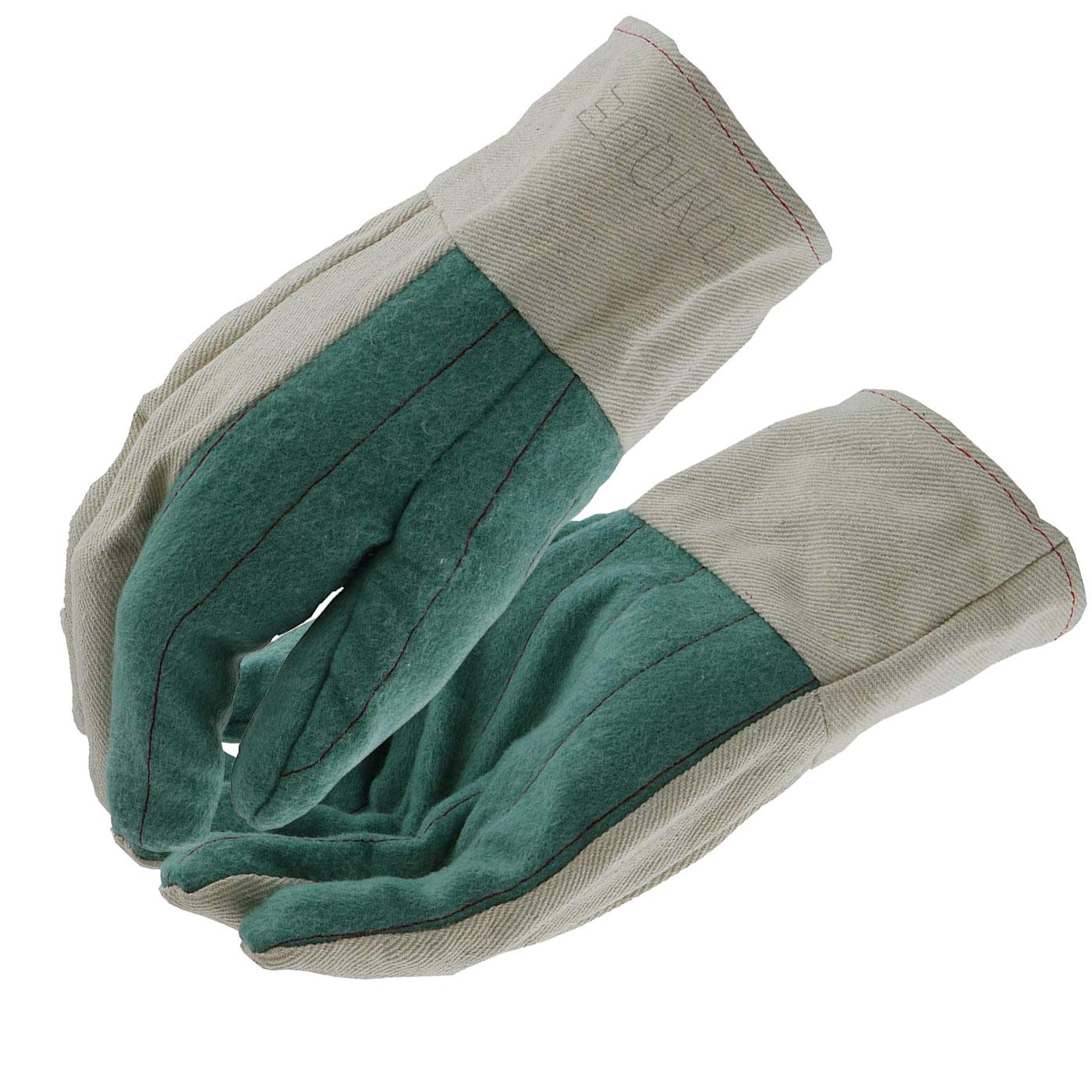 Green Cotton Hot Mills Gloves