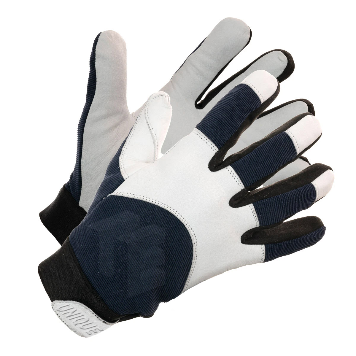 Natural Goat Skin Leather Assembly Glove With Spandex Back,
