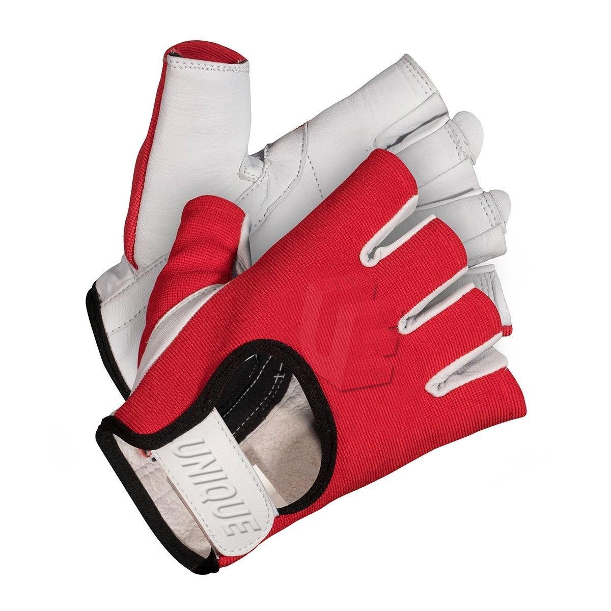 Natural Goat Skin Leather Half Finger Glove