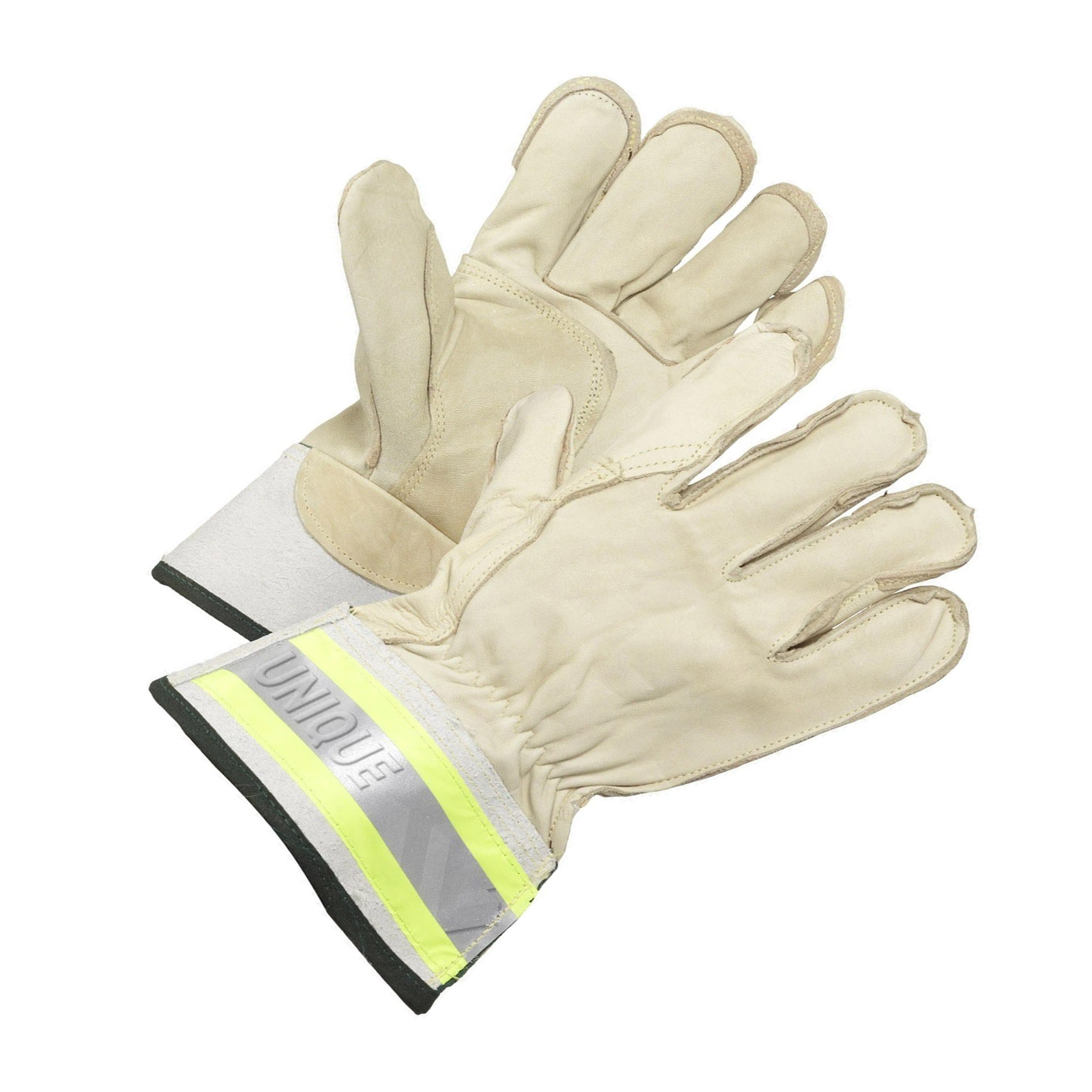 Beige Cow Grain Glove With Palm