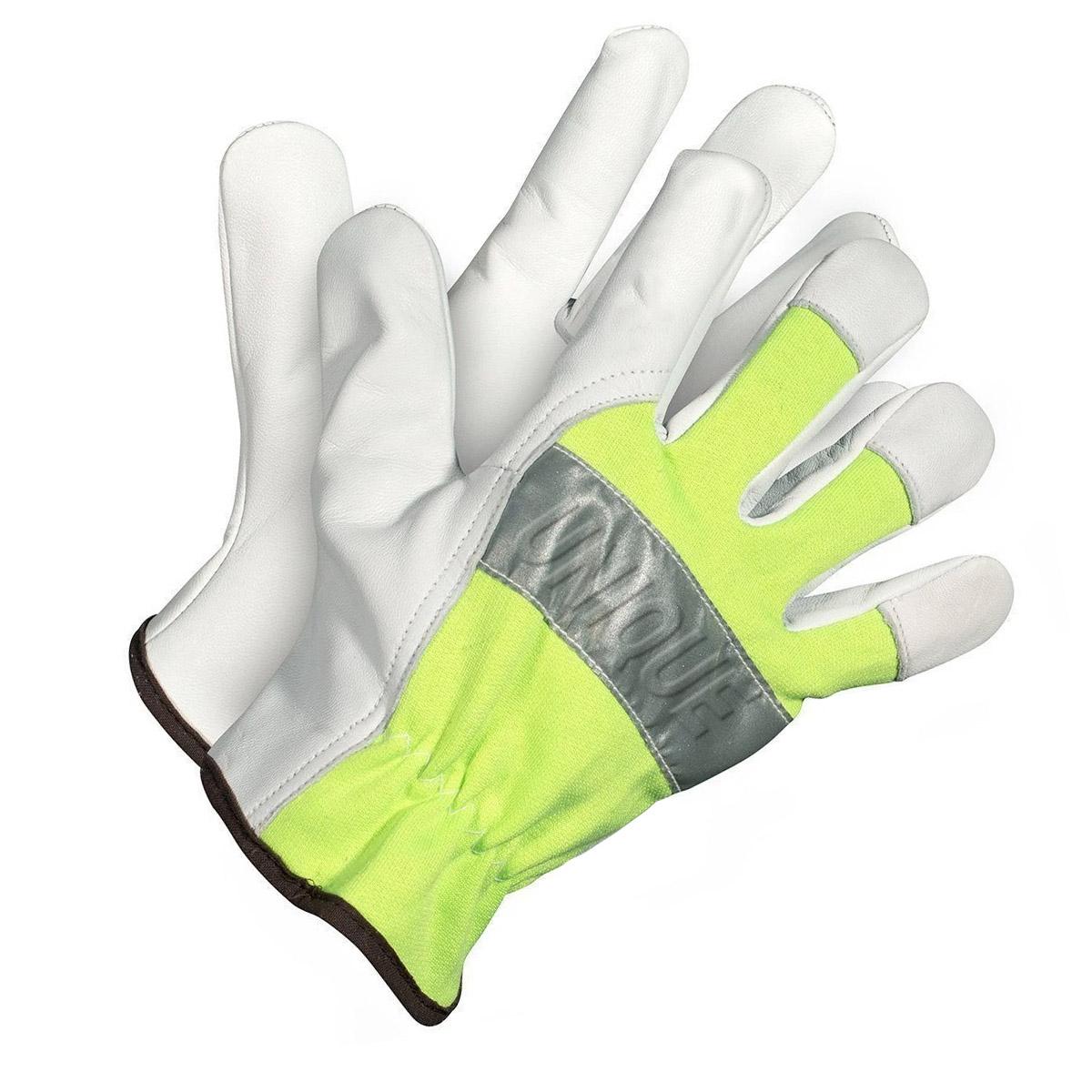 Natural Gaot Skin Leather Driver Glove with Hi-Viz