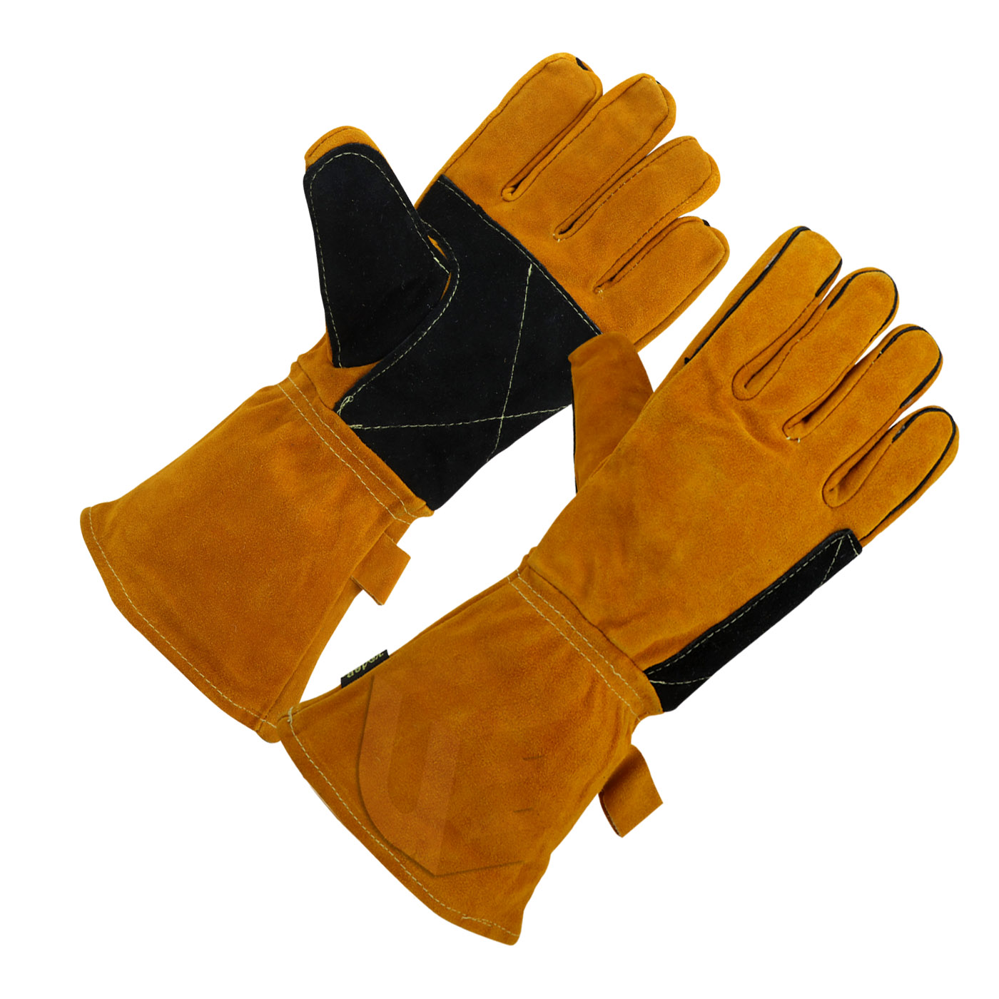 Heavy Duty Cow Split Welding Glove With Double Palm